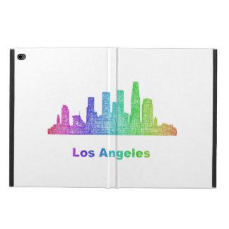 Rainbow Los Angeles skyline