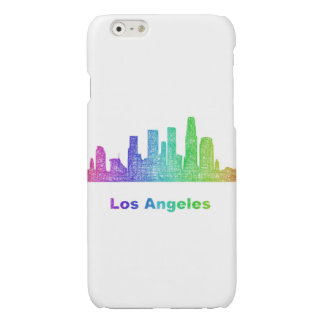 Rainbow Los Angeles skyline