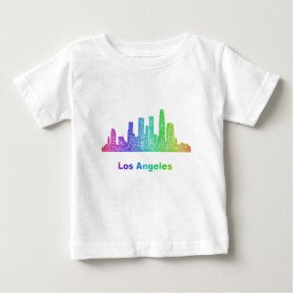 Rainbow Los Angeles skyline Baby T-Shirt