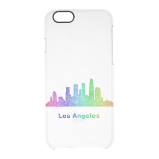 Rainbow Los Angeles skyline Clear iPhone 6/6S Case