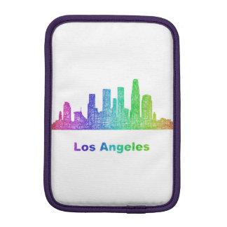 Rainbow Los Angeles skyline iPad Mini Sleeves