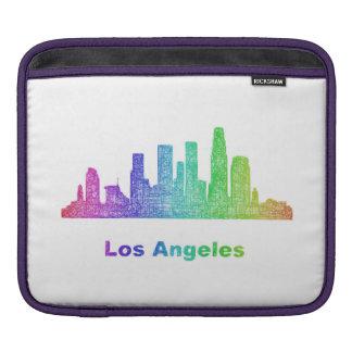 Rainbow Los Angeles skyline iPad Sleeve