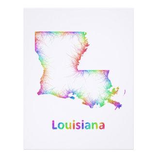 Rainbow Louisiana map Letterhead