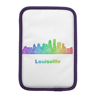 Rainbow Louisville skyline iPad Mini Sleeve