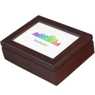 Rainbow Louisville skyline Keepsake Box