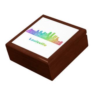 Rainbow Louisville skyline Keepsake Boxes