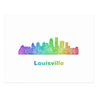 Rainbow Louisville skyline Postcard