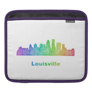 Rainbow Louisville skyline Sleeves For iPads