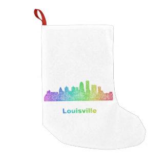 Rainbow Louisville skyline Small Christmas Stocking