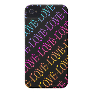 Rainbow: Love and Hearts iPhone 4 Cover