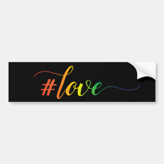rainbow love bumper sticker