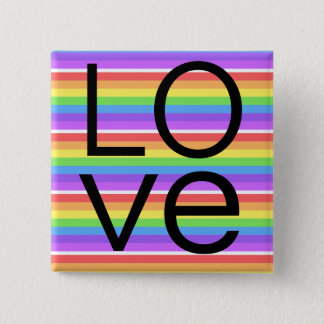 Rainbow Love Button
