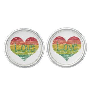 Rainbow Love Cuff Links