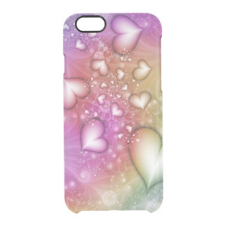 Rainbow Love Fractal Clear iPhone 6/6S Case
