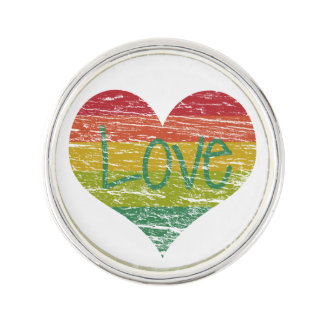 Rainbow Love Lapel Pin