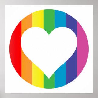rainbow love. poster