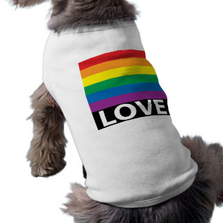 Rainbow Love, Pride, LGBT, Celebrate Love Dog Tshirt