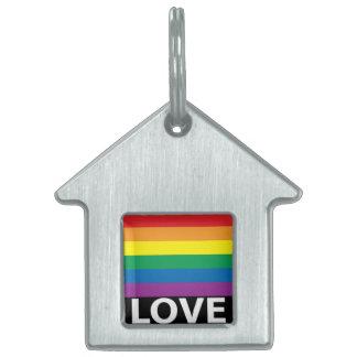 Rainbow Love, Pride, LGBT, Celebrate Love Pet Tag