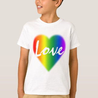 Rainbow Love T-shirt Kid's Gay Pride T-shirt Gifts