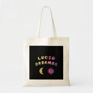 Rainbow lucid dreamer tot bag design.