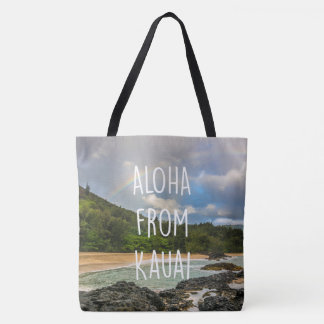 Rainbow Lumaha'i Beach, Kauai, Hawaiian Beach Bag