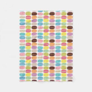 Rainbow Macarons Pattern Personalized Fleece Blanket