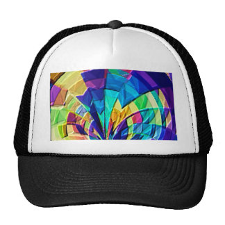 Rainbow Magical Floral Pattern V1 Trucker Hat