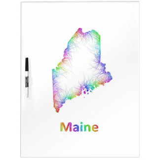 Rainbow Maine map Dry Erase Boards