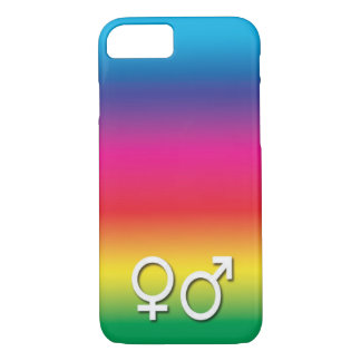 Rainbow Male and Female Icon iPhone 7 Case