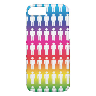 Rainbow Male Icon Pattern iPhone 7 Case