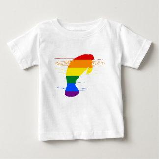 Rainbow Manatee Baby T-Shirt