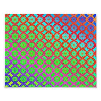 Rainbow Mandala Fractal Pattern Photo Art