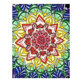 Rainbow Mandala Letterhead