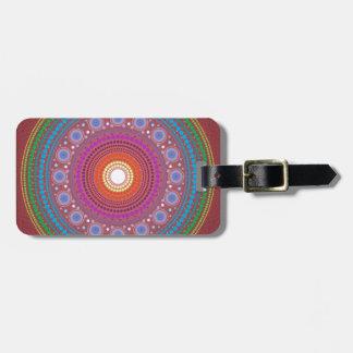 Rainbow Mandala Luggage Tag