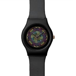 Rainbow Mandala Matte Black Watch