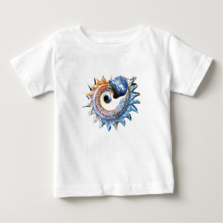 Rainbow Mandala Seashell Golden Spiral Yoga Tee