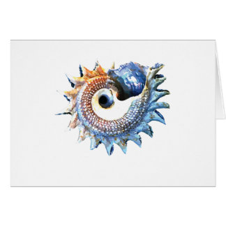 Rainbow Mandala Seashell Golden Spiral Yoga Tee Card