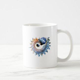 Rainbow Mandala Seashell Golden Spiral Yoga Tee Coffee Mug