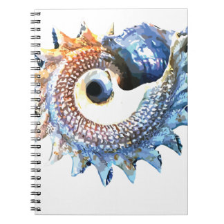 Rainbow Mandala Seashell Golden Spiral Yoga Tee Notebook