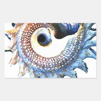 Rainbow Mandala Seashell Golden Spiral Yoga Tee Sticker