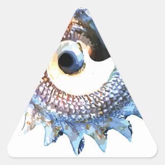 Rainbow Mandala Seashell Golden Spiral Yoga Tee Triangle Sticker