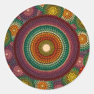 Rainbow Mandala Sticker Hand Painted