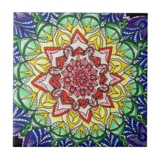 Rainbow Mandala Tile