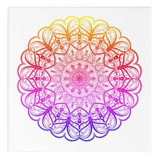 Rainbow Mandala Wall Art