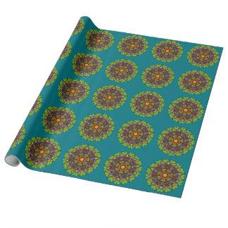 Rainbow mandala wrapping paper