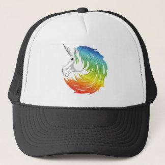 Rainbow Mane Unicorn Trucker Hat