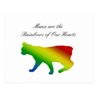 Rainbow Manx Postcard