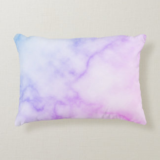 Rainbow Marble Pattern Accent Pillow