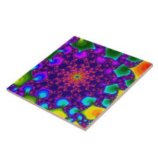 Rainbow Marigold Large Tile