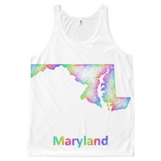 Rainbow Maryland map